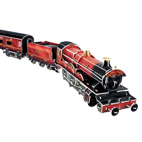 The Train for Magic School Olton Hall 201-piece 3D Puzzle - Red