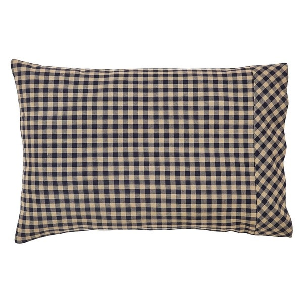 Check Cotton Pillow Case Set
