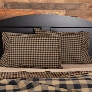 Check Cotton Pillow Case Set