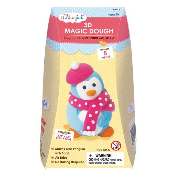 3D Magic Dough - Penguin with Scarf