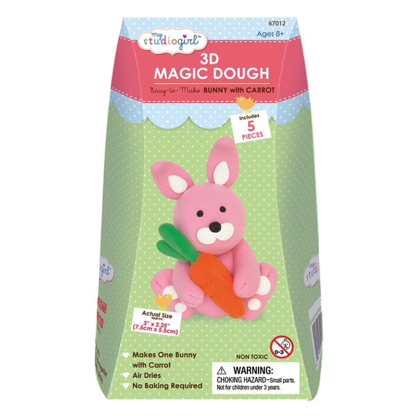 3D Magic Dough - Bunny with Carrot