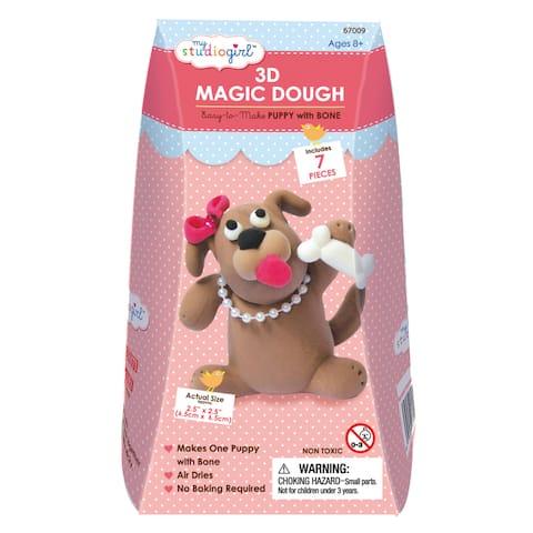 3D Magic Dough - Puppy with Bone - Pink