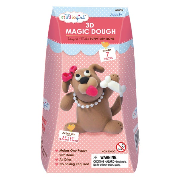3D Magic Dough - Puppy with Bone - Pink. Opens flyout.
