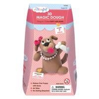 3D Magic Dough - Puppy with Bone
