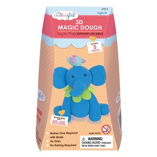 3D Magic Dough - Elephant with Birdie