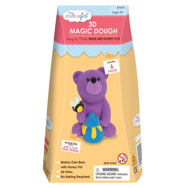 3D Magic Dough - Bear with Honey Pot
