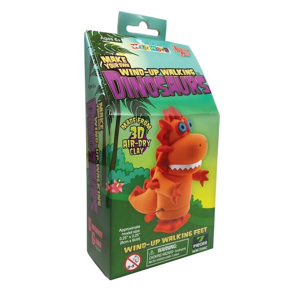 Make Your Own Wind-Up Walking Dinosaurs - Orange