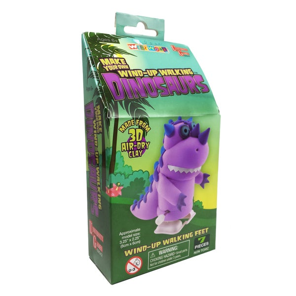 Make Your Own Wind-Up Walking Dinosaurs - Purple