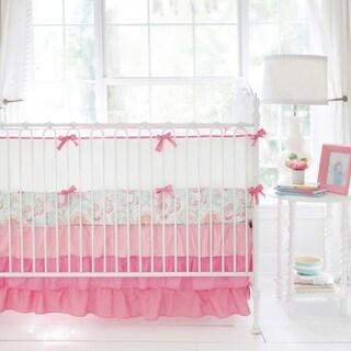 My Baby Sam Coral and White Crib Bumper Pad
