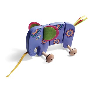 TiddlyTots Large Wooden Pull-Along Elephant