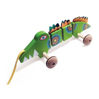 TiddlyTots Large Wooden Pull-Along Crocodile
