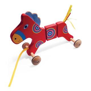 TiddlyTots Large Wooden Pull-Along Horse
