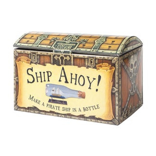 Ship Ahoy! Pirate Ship in a Bottle Kit