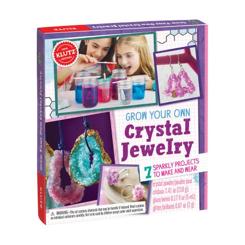 Grow Your Own Crystal Jewelry - Purple