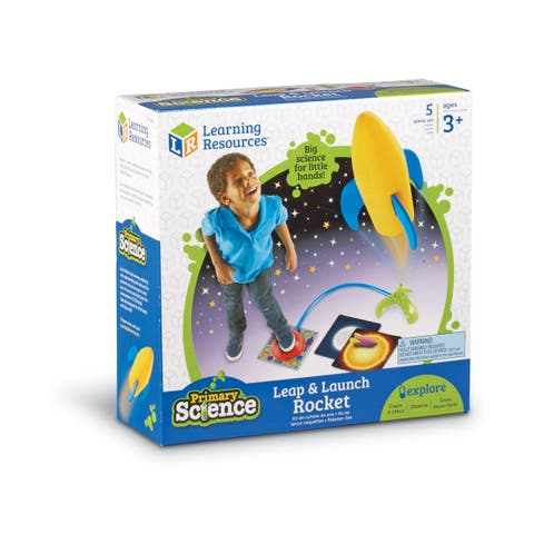 Primary Science Leap & Launch Rocket - Blue