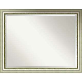 Wall Mirror Oversize Large, Vegas Curved Silver 45 x 35-inch