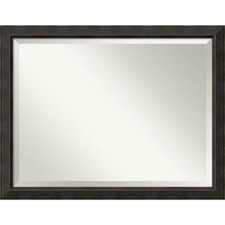 Wall Mirror Oversize Large, Signore Bronze 45 x 35-inch - Espresso - oversize large - 45 x 35-inch