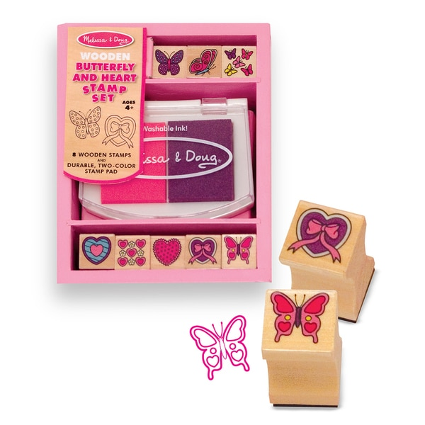 Butterflies and Hearts Stamp Set