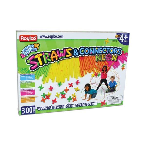 Straws & Connectors Neon - 300 Piece Set