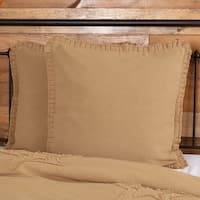 Burlap 100% Cotton Euro Sham with Ruffle