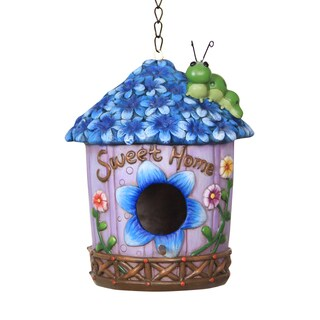 Blue Iris Bird House