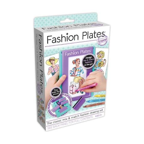 Fashion Plates Travel Set - Black