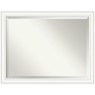 Wall Mirror Oversize Large, Craftsman White 45 x 35-inch - oversize large - 45 x 35-inch