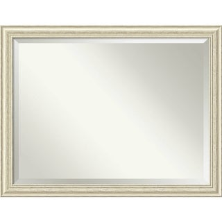 Wall Mirror Oversize Large, Country White Wash 45 x 35-inch