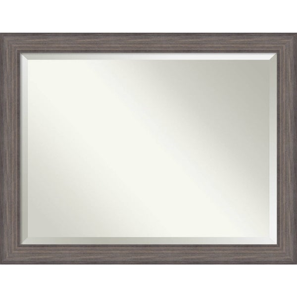 Wall Mirror Oversize Large, Country Barnwood 46 x 36-inch - Brown/Grey - oversize large - 46 x 36-inch