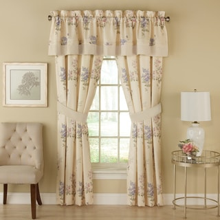 Chapel Hill By Croscill Forget Me Not 84-inch Rod Pocket Curtain Panel Pair