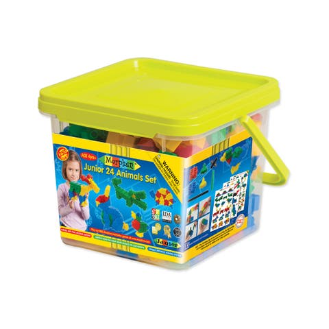 Morphun Junior 24 Animals Set: 252 Pcs - Blue/Yellow
