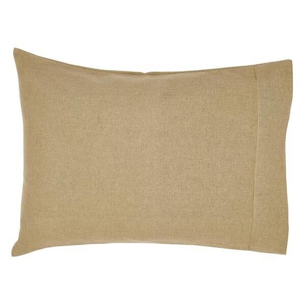 Burlap 100% Cotton Pillow Case Set
