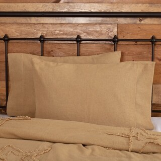 Burlap 100% Cotton Pillow Case Set