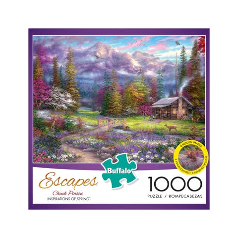 Chuck Pinson Escapes - Inspirations of Spring: 1000 Pcs - Blue/Purple