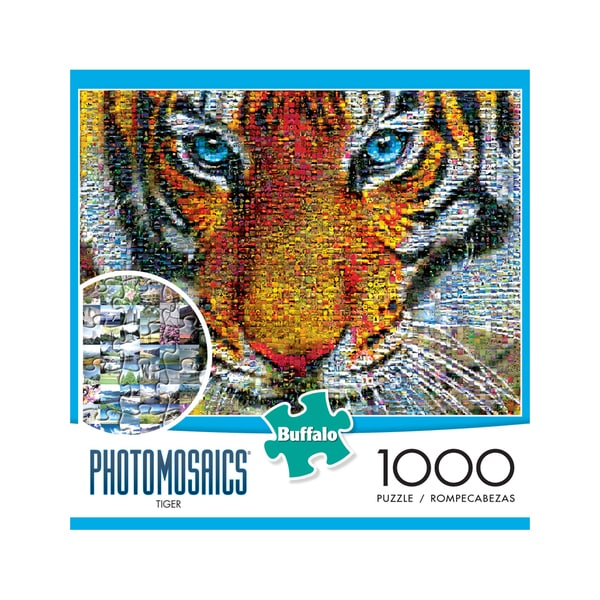 Photomosaics Jigsaw Puzzle - Tiger: 1000 Pcs
