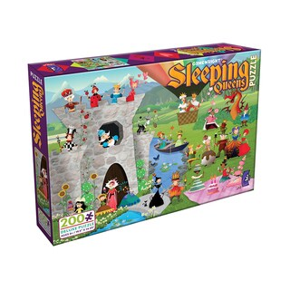 Sleeping Queens Deluxe Jigsaw Puzzle: 200 Pcs - Green/Blue