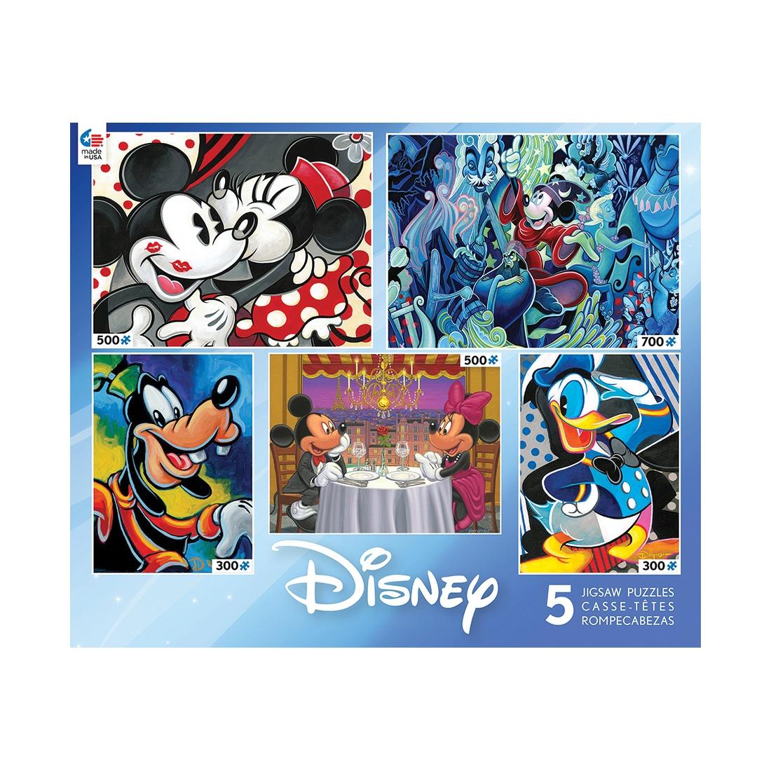 Ceaco Disney 5-in-1 Jigsaw Puzzle Multi-Pack - Classic Di...