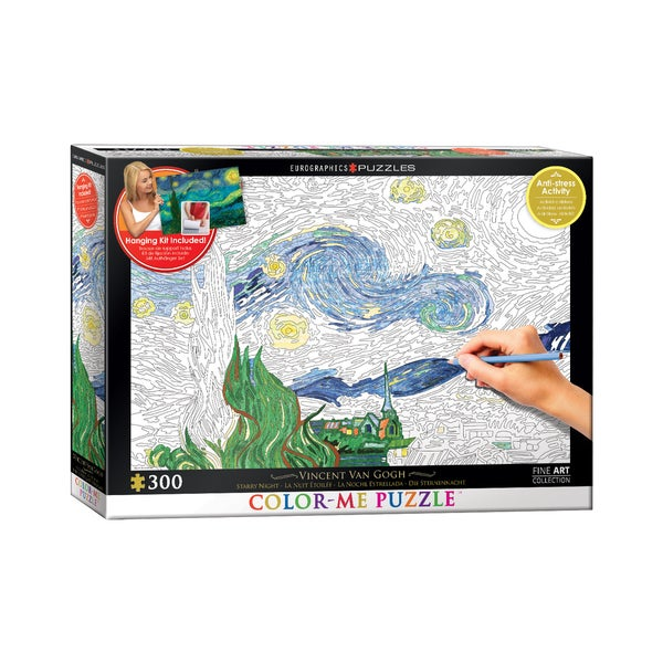 Color-Me Puzzle - Vincent Van Gogh's Starry Night: 300 Pcs