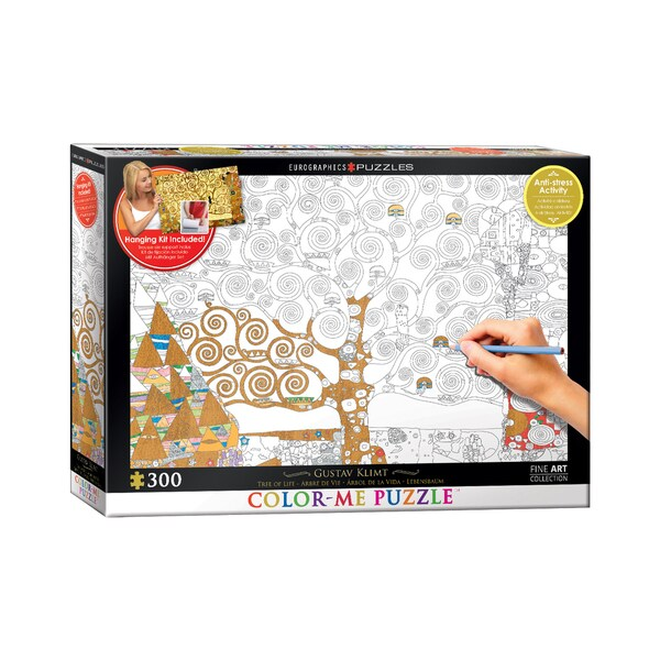 Color-Me Puzzle - Gustav Klimt's Tree Of Life: 300 Pcs