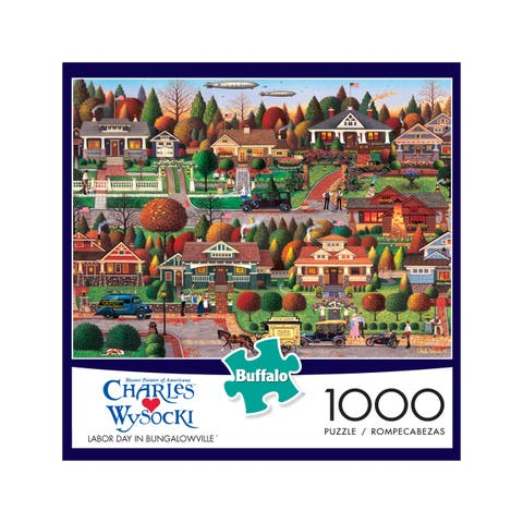 Charles Wysocki - Labor Day in Bungalowville: 1000 Pcs - Multi