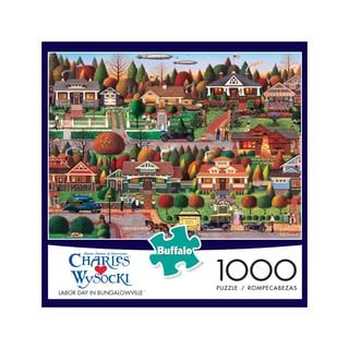 Charles Wysocki - Labor Day in Bungalowville: 1000 Pcs