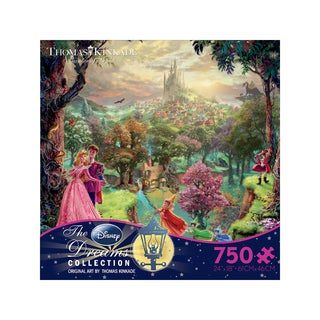 Thomas Kinkade Disney Dreams - Sleeping Beauty: 750 Pcs - Green/Purple