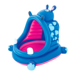 Bestway H2OGO! 44 Inch Covered Hippo Baby Pool