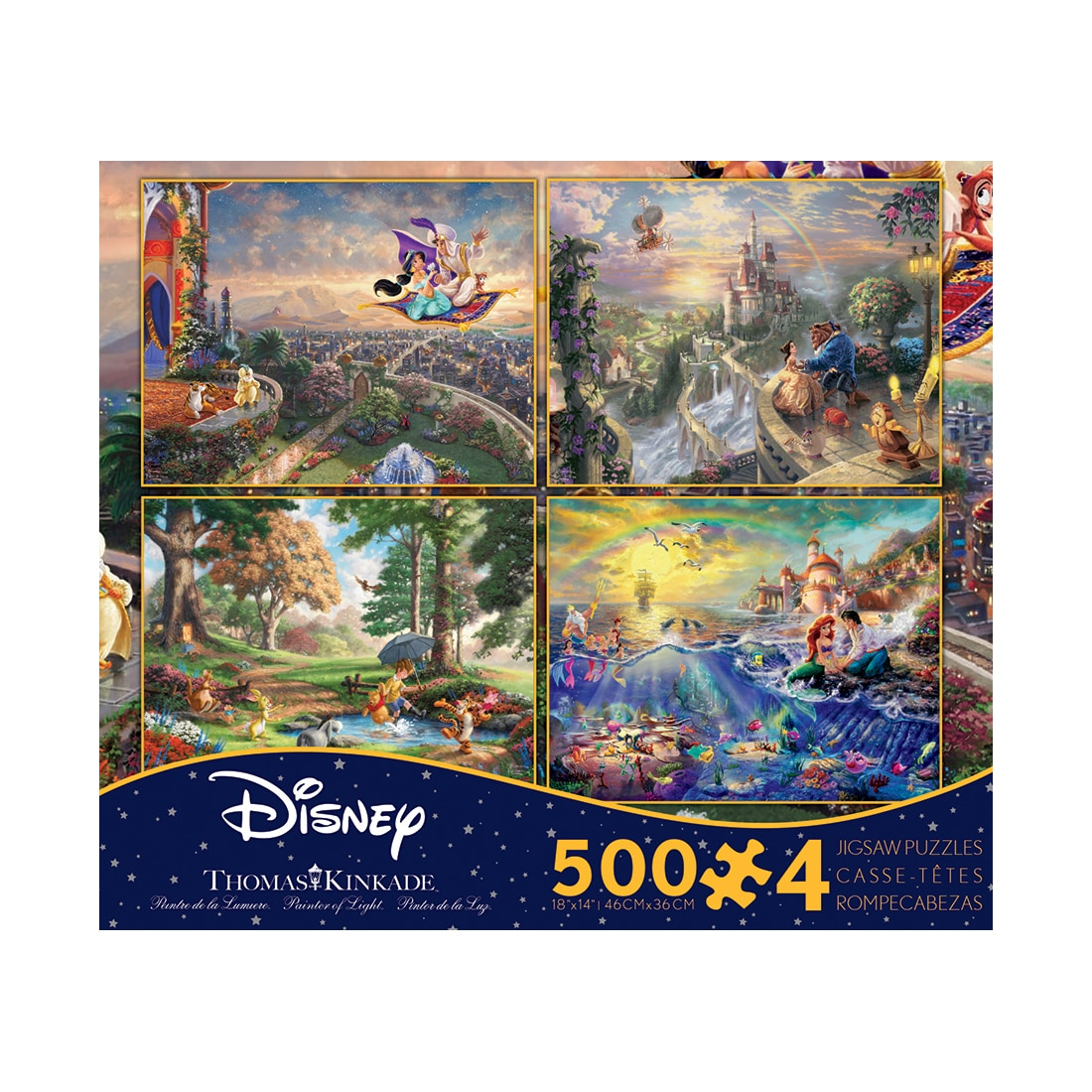 Ceaco Thomas Kinkade Disney Dreams - 4-in-1 Jigsaw Puzzle...