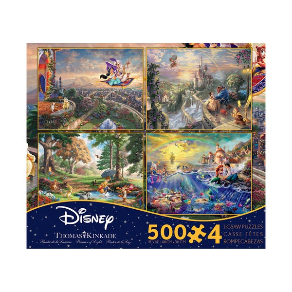 Thomas Kinkade Disney Dreams - 4-in-1 Jigsaw Puzzle Multi-Pack Series 3: 4 x 500 Pcs
