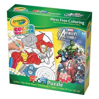 Crayola Color Wonder Puzzle - Marvel Avengers Assemble: 24 Pcs
