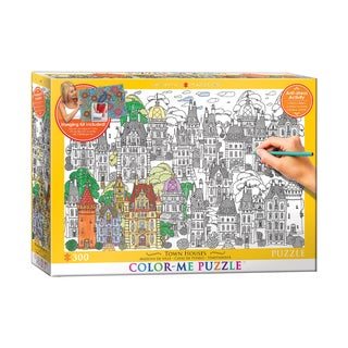 Color-Me Puzzle - Town Houses: 300 Pcs