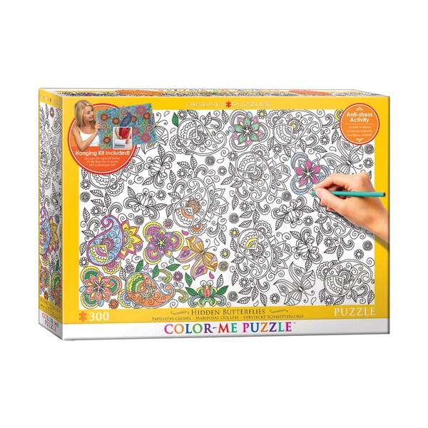 Color-Me Puzzle - Hidden Butterflies: 300 Pcs
