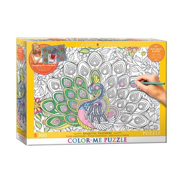 Color-Me Puzzle - Majestic Feathers: 300 Pcs