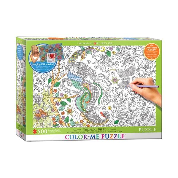 Color-Me Puzzle - Tropical Birds: 500 Pcs